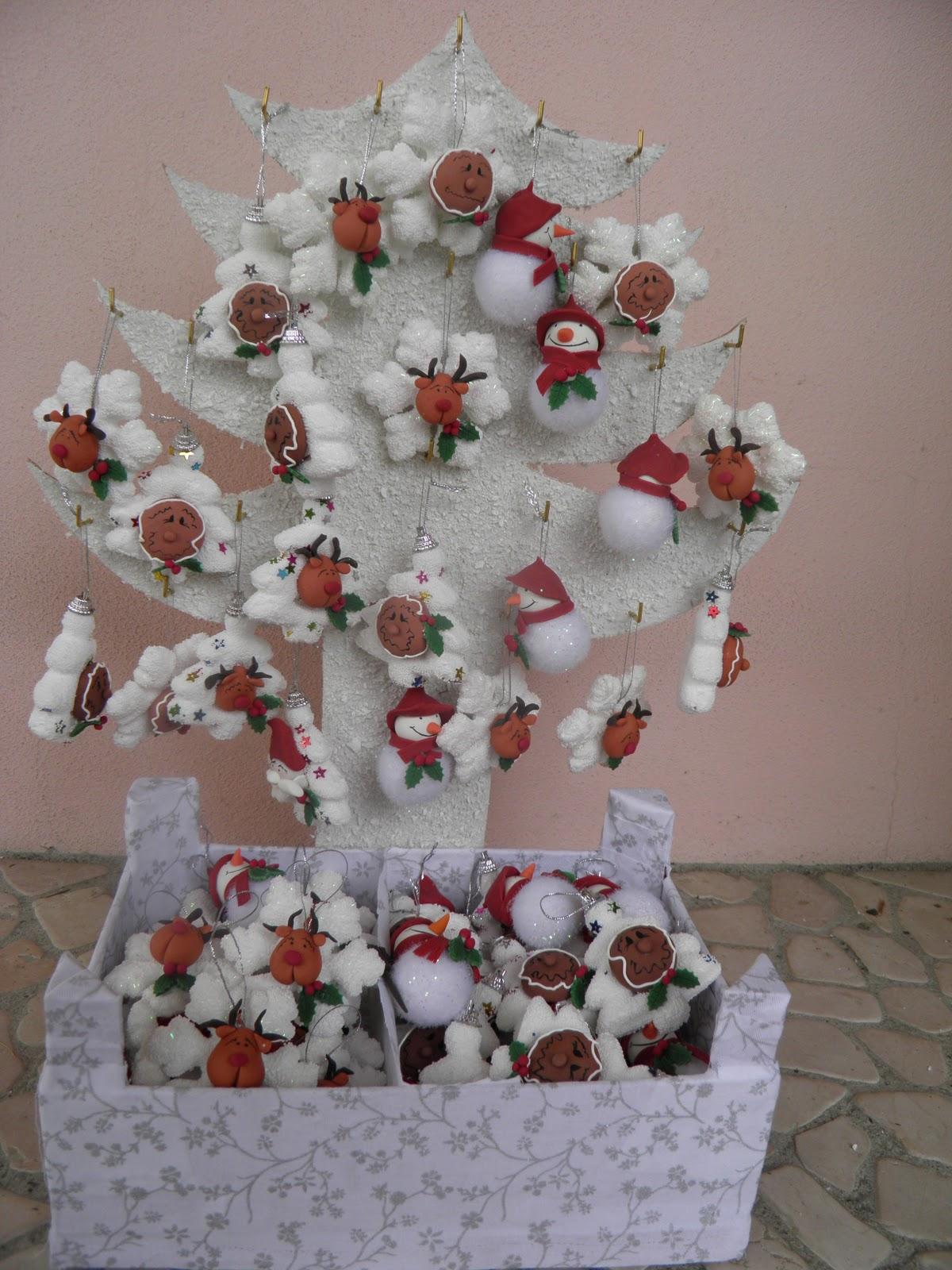 La nuvola dei sogni renne pupazzi di neve e ginger da appendere all 39 albero di natale - Pinterest natale ...