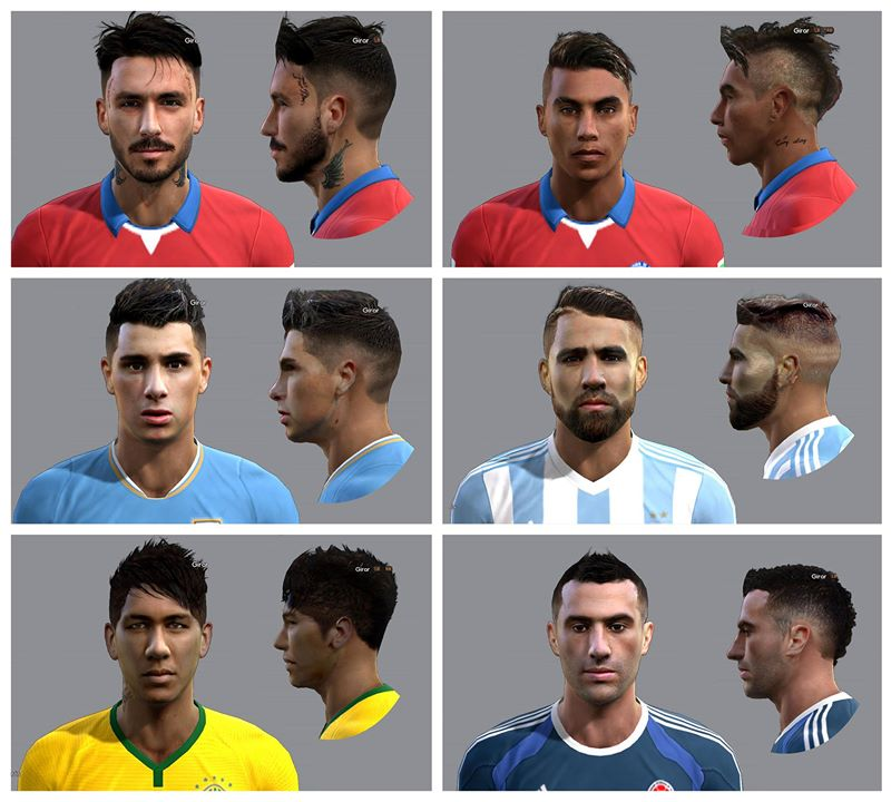 Ultigamerz Pes 2010 Pes 2011 Face: PES-MODIF: PES 2013 Facepack Chile 2015 By Ausa92