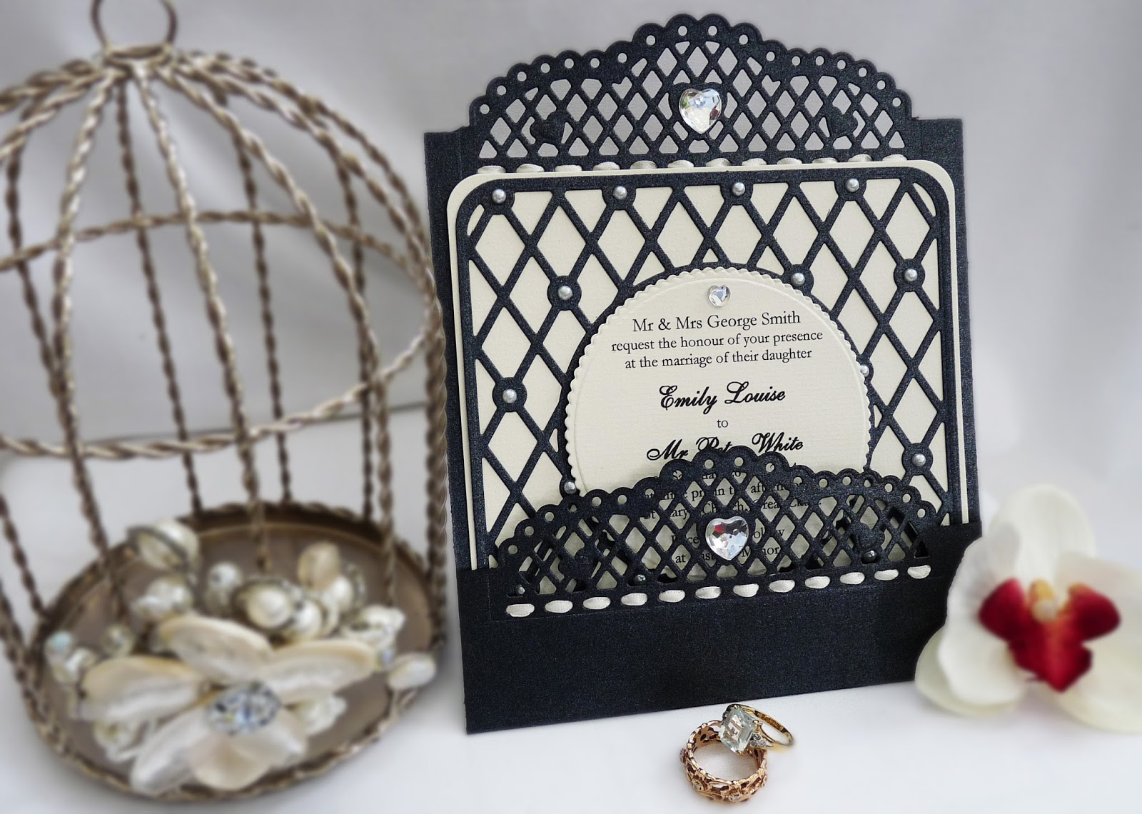 Tonic Studios Ornate Elegance Header Dies Wedding Invitation Idea