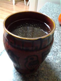 Homemade tea.