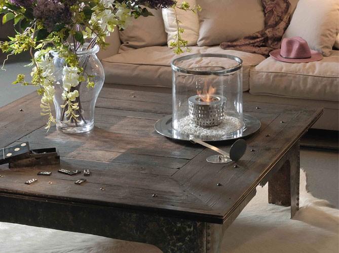 Leo decora gui os industriales for Repeindre une table basse en bois