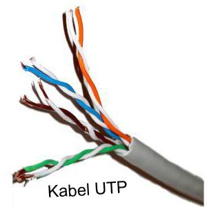 merupakan kabel jaringan yang terdiri dari delapan buah pin kabel yang