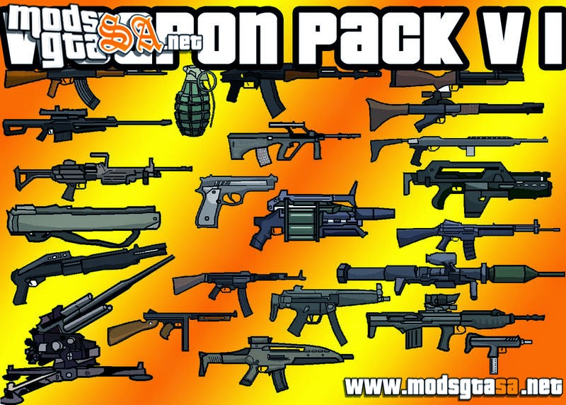 SA - Pack de Armas do GTA V v1