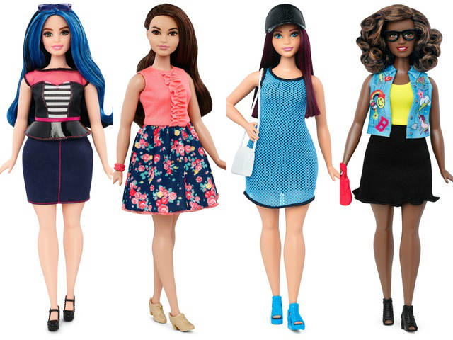 Barbies new shapes Tall petite curvy