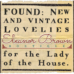 BBHAPPY4TH gives you a celebratory 20% off on all of Eleanor's in-stock treasures! Valid thru 7/7.