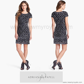 Crown Princess Victoria Style ADRIANNA PAPELL Dress and RALPH LAUREN Pumps