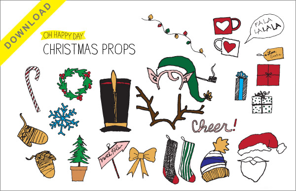christmas props free template