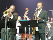 Prince Lengoasa (trumpet) & McCoy Mrubata (sax)