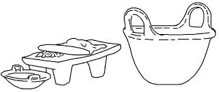 Metate y cazuelas para colorear