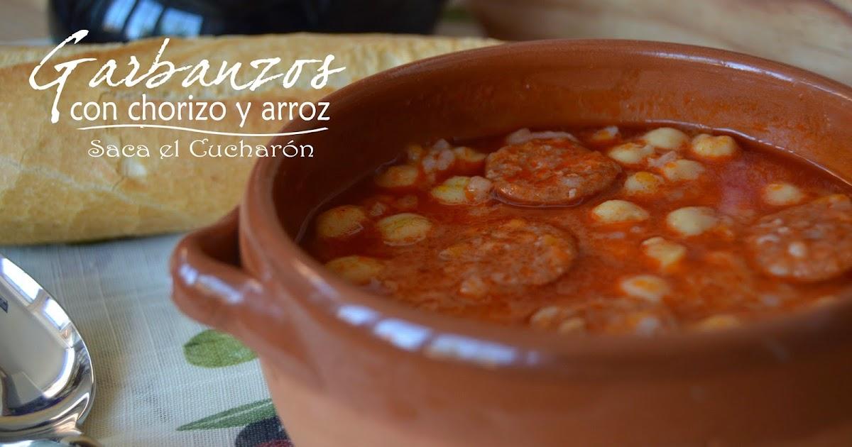 Garbanzos con chorizo y arroz for Cocinar garbanzos con chorizo