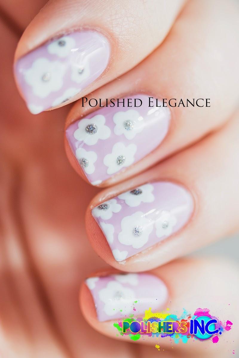 Simple flowers nail art design manicure