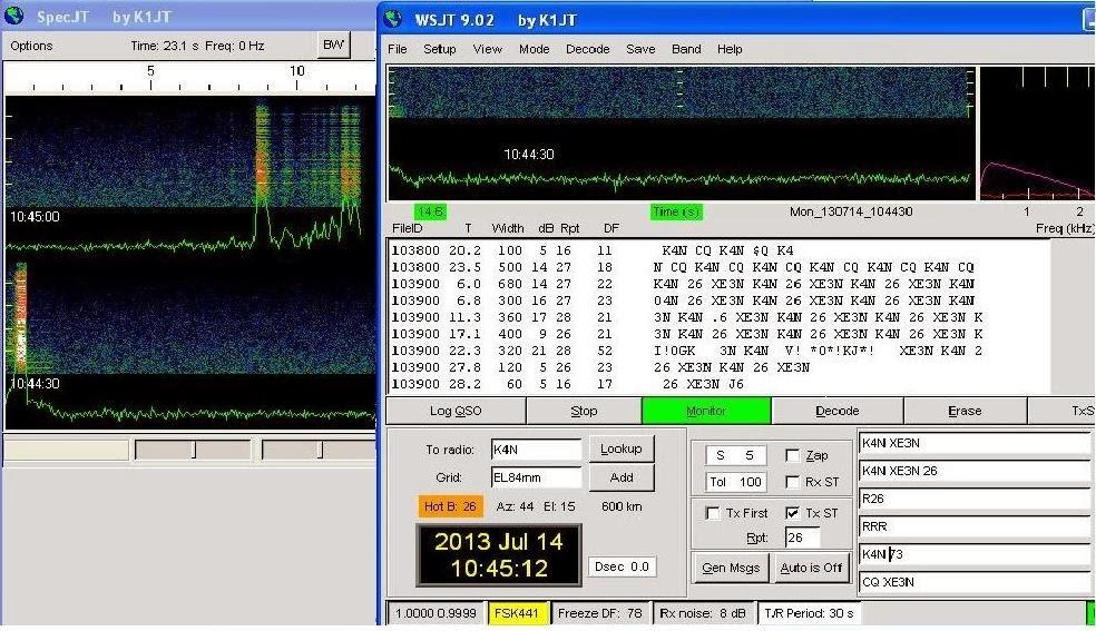 QSO en FSK44 con K4N 6m