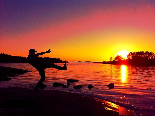 Finland, Finnish, Summer, Sunset, Island, Midsummer, Silhouette