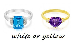 white gold or yellow gold