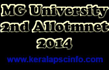 MG Second allotmnet, MG University Third allotment, MG 3rd Allotment, MG University, Allotment