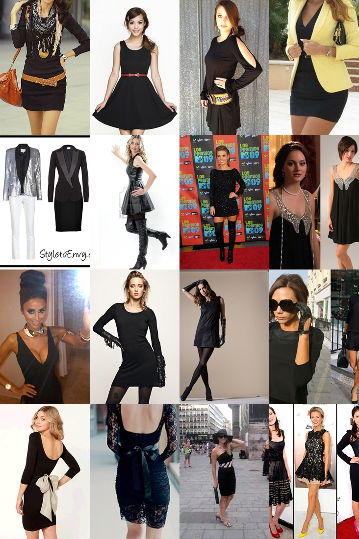 Accessorizing a black dress pictures
