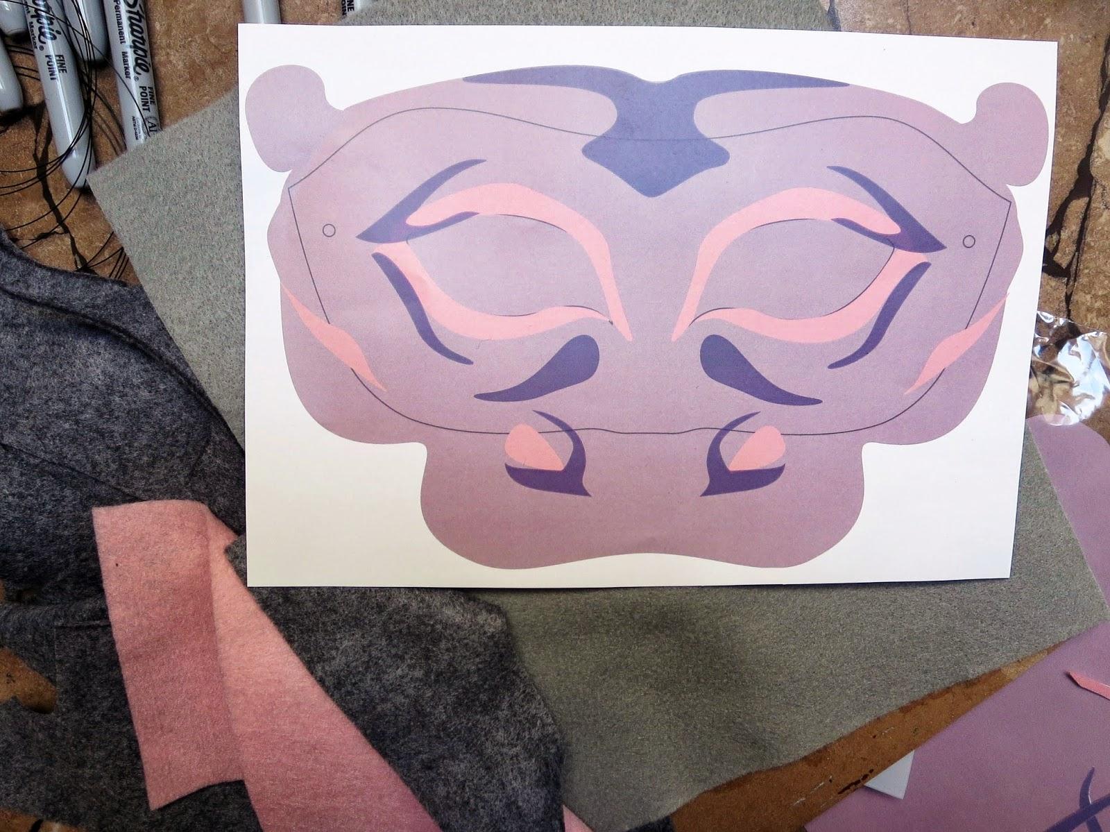 DIY Felt Hippo Mask