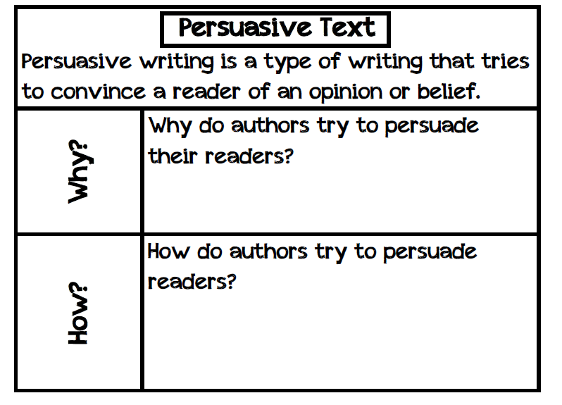 how do authors persuade their readers