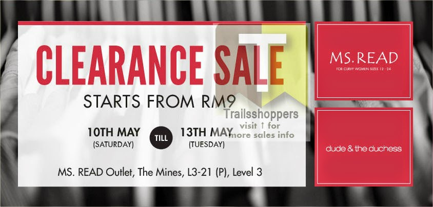 Ms.Read and dude & the duchess Clearance Sale at The Mines Starts from RM9
