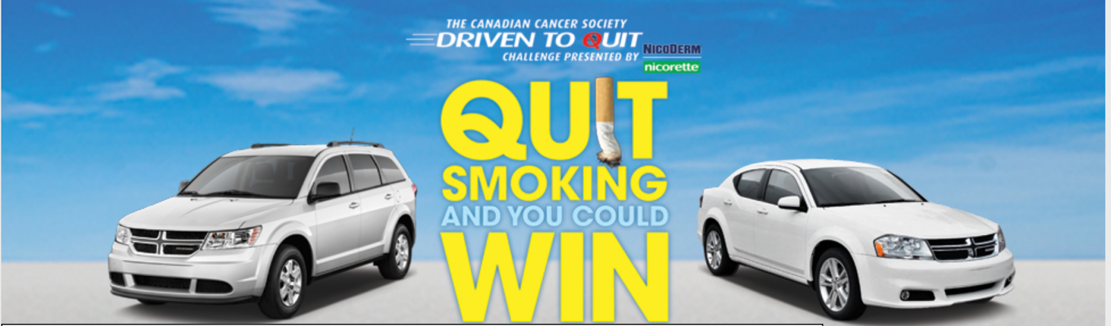 image Ontario #Giveaway for smokers and buddies - Driven to quit shared on @KawarthaMums  Driven to quit