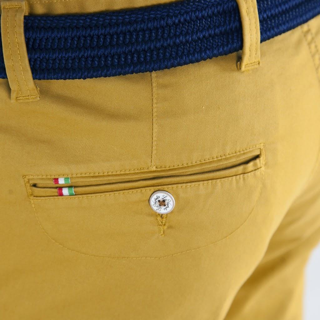 Detalle de pantalón La Vespita de algodón/lycra para hombre de Paco Cecilio