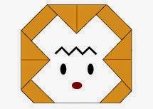 Bước 6: Vẽ mắt, vẽ mồm để hoàn thành cách xếp mặt con khỉ bằng giấy origami