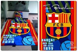 Grosir Selimut Rosanna Soft Panel Blanket Fc Barcelona
