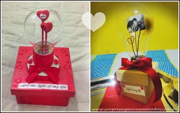 caixa light of my life para namorado