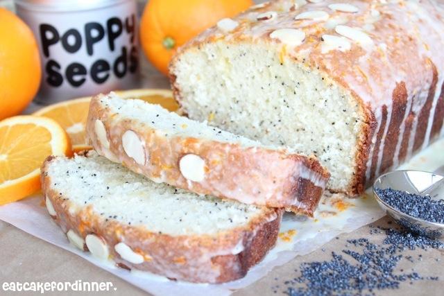 Eat Cake For Dinner: Almond Poppy Seed Bread with Orange Glaze