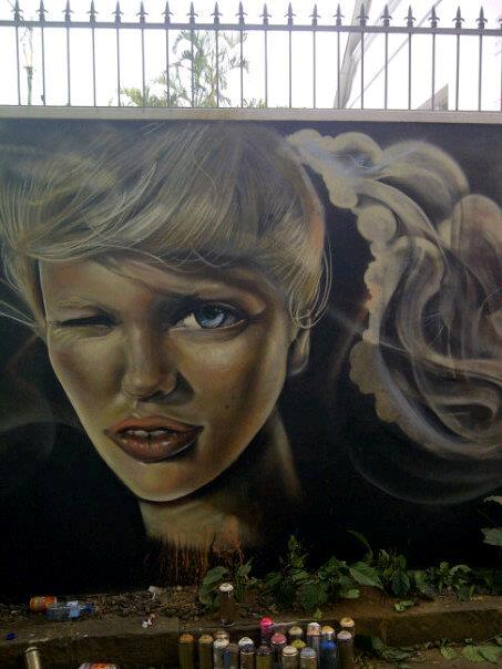 Pastel Heart, Graffiti Art, Street Art, Murals,