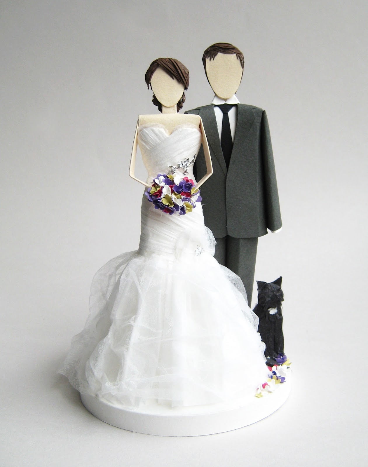 Concarta Paper sculpture cake toppers for weddings