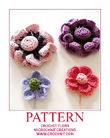 crochet patterns, flowers, flora, how to crochet,