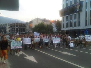 Аман! Протест во Скопје - луѓе чекорат по бул. Климент Охридски