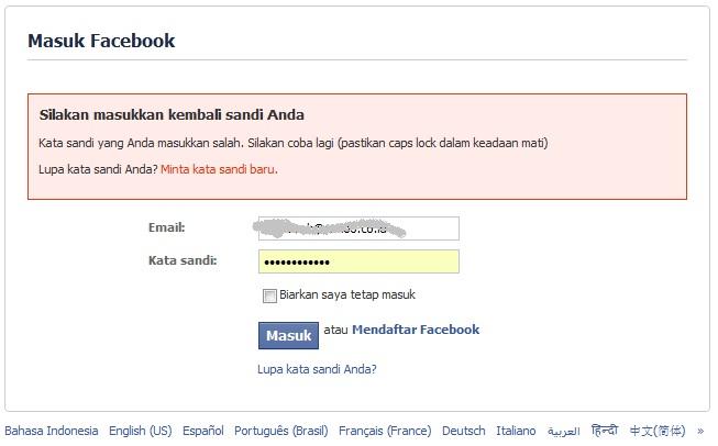 Facebook Dalam Bahasa Indonesia