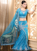 Blue Indian Wedding Dresses