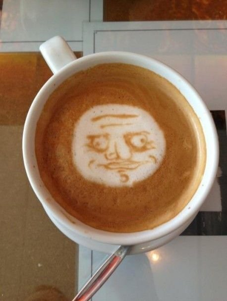 The Incredible Stuffs: Start your day with Me Gusta meme coffee