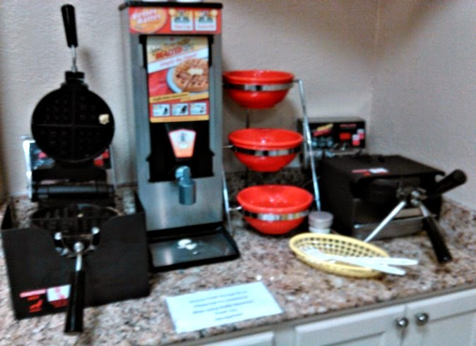continental breakfast waffle station