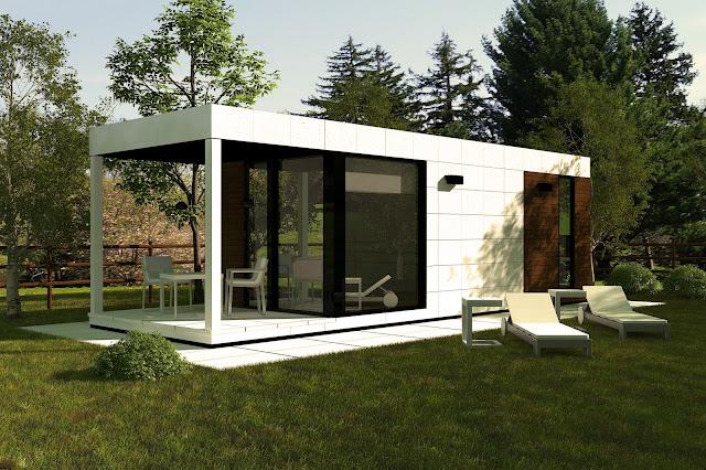 Módulo de jardín con cubierta de tela asfáltica autoprotegida - Suite 21 de Resan