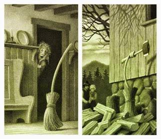 Leggere insieme ancora indovina l 39 illustratore 5 la for La scopa di saggina