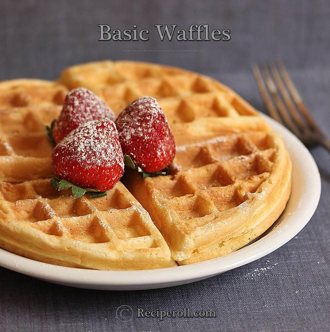 Basic Waffles | How To Make Fluffy Waffles ~ Sankeerthanam (Reciperoll ...
