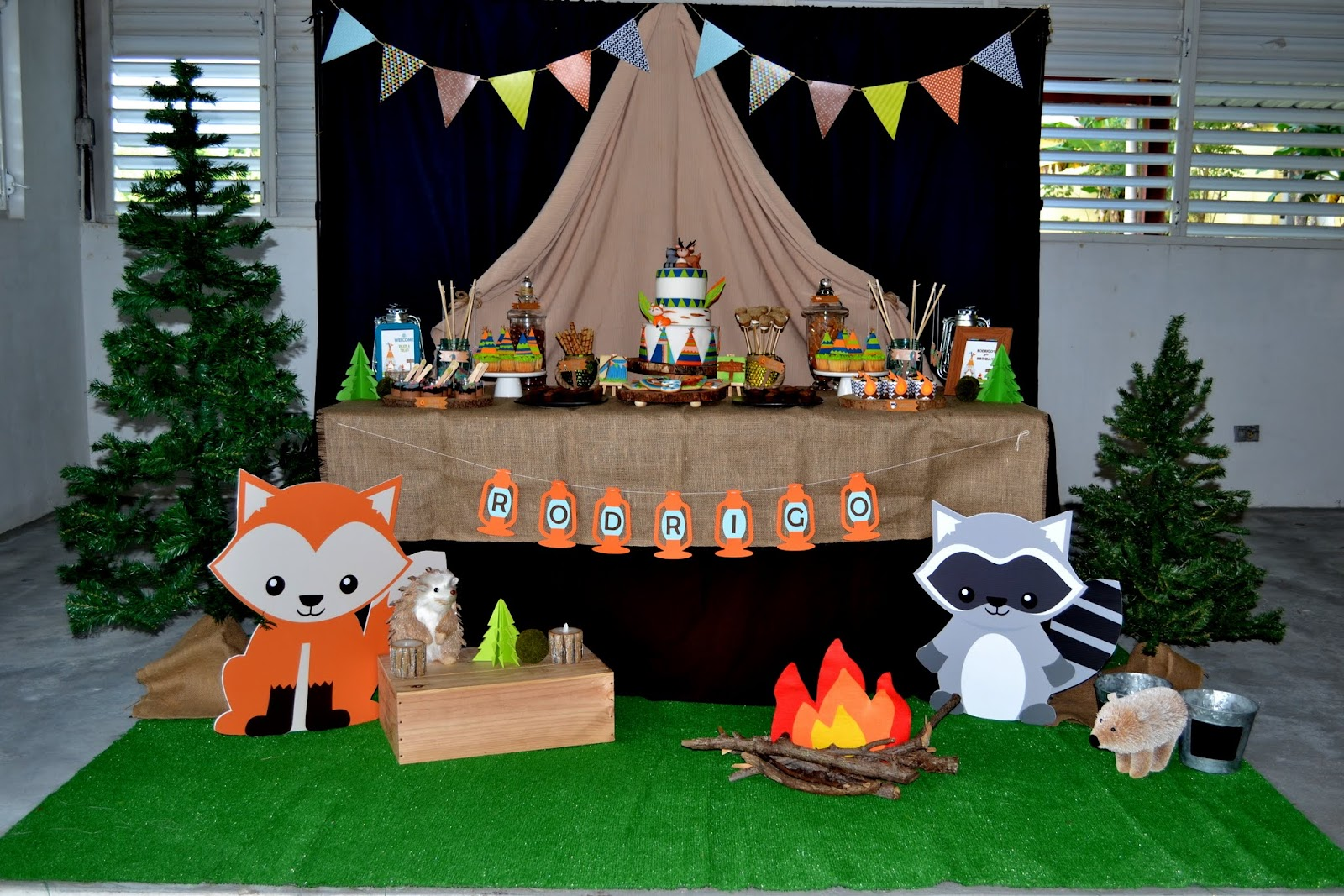 Partylicious Events PR Woodland Camping Birthday