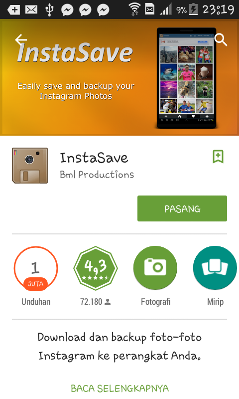 Cara Download Foto Instagram Android