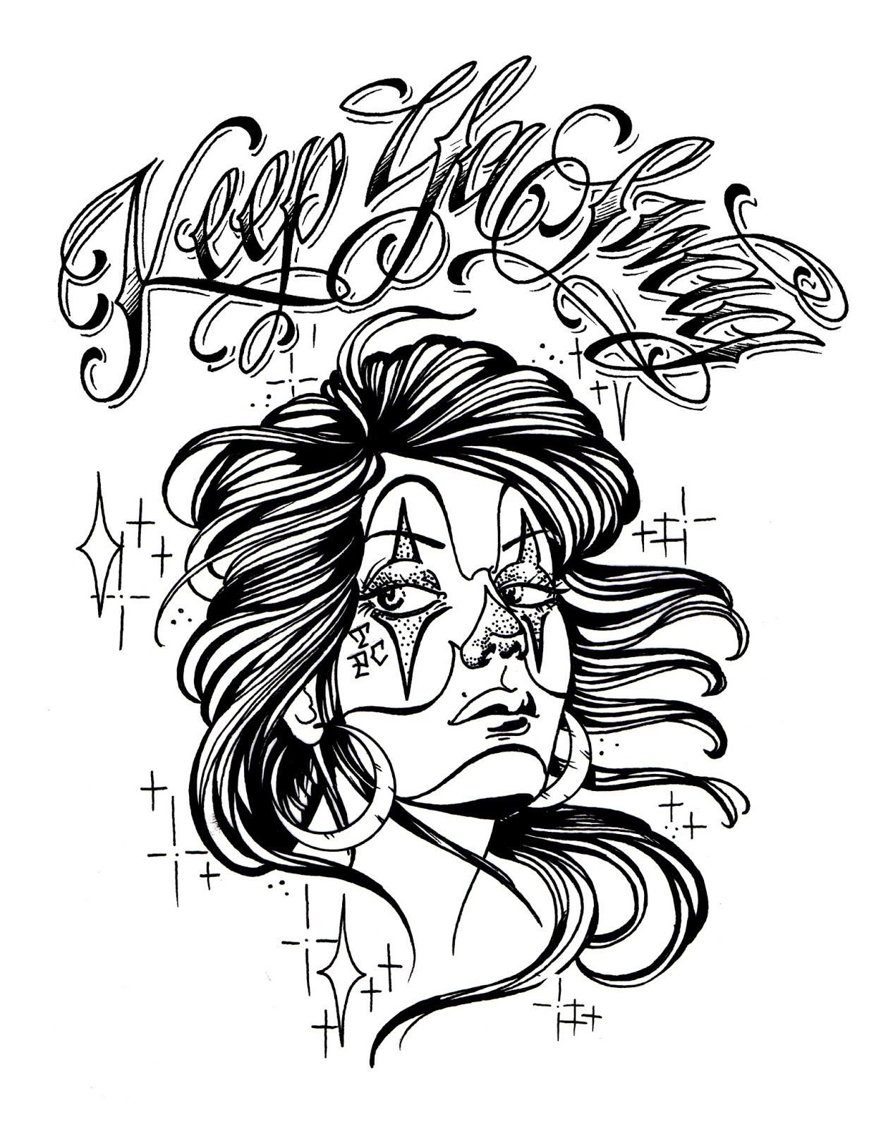 Chicano Art Drawings And Coloring