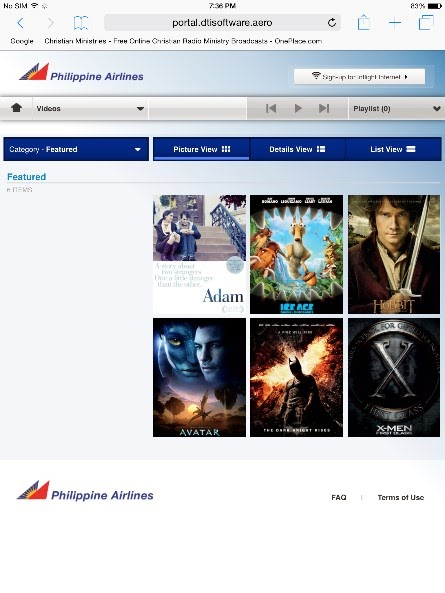 philippine airline inAir
