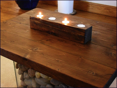 tealight holder, wooden tealight holder, scrap wood, scrapwood tealight holder