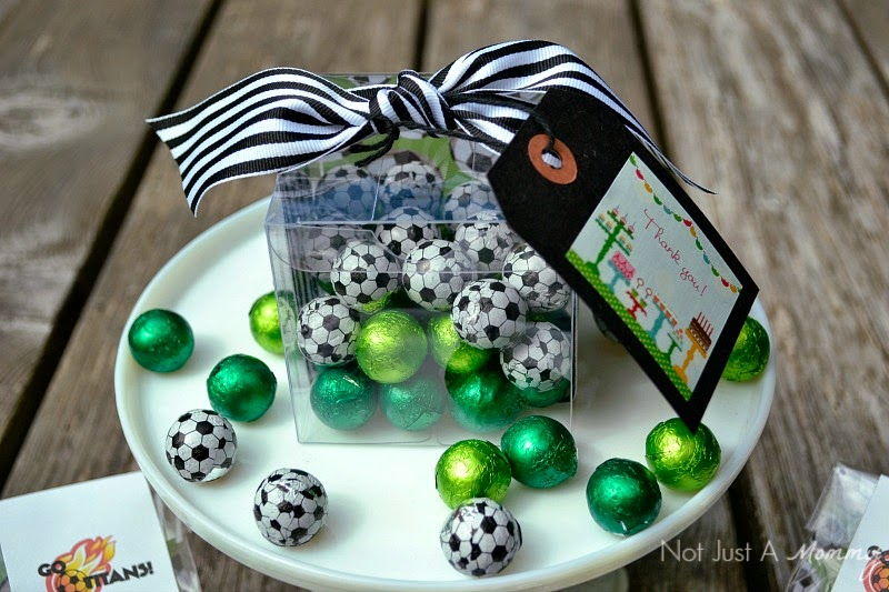 chocolate soccer ball coach favor with SweetWorks
