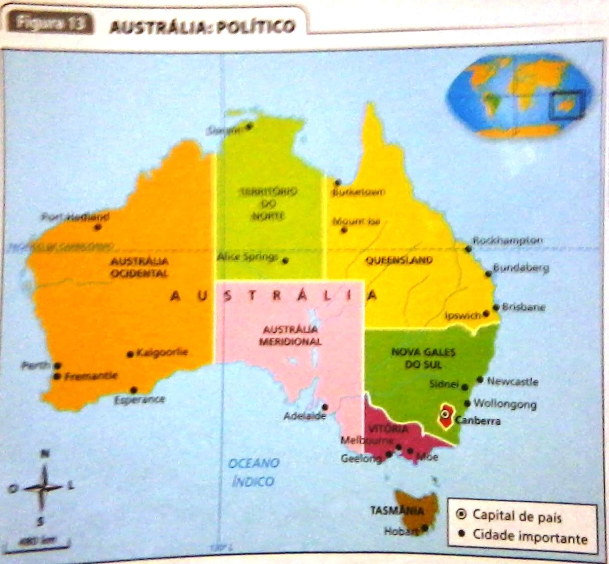 mapa acima comunidade da austrlia o nome oficial do pas que