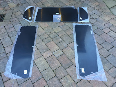 Caterham carbon interior panels, first picture after unpacking