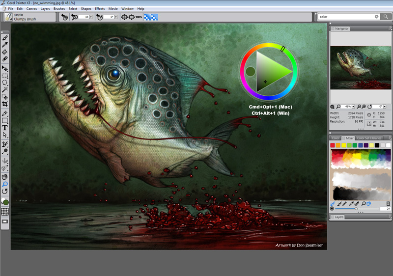 Download click corel painter x3 13 0 x86 x64 full Digital art painting software