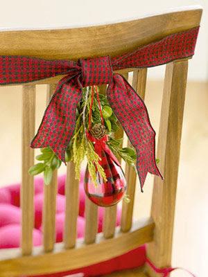 decoración sillas manualidades navidad